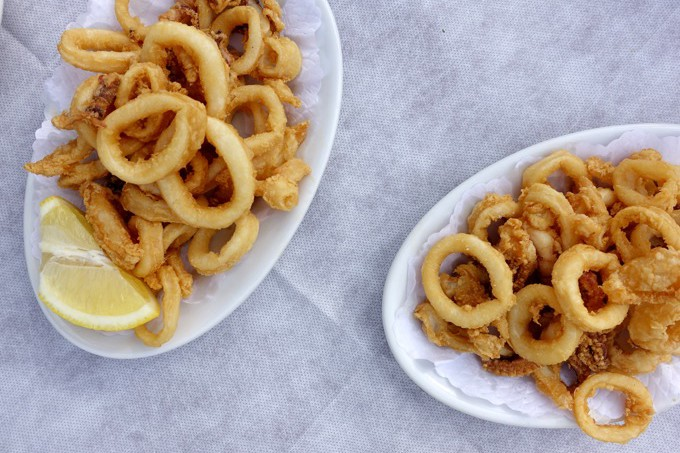 Fried Calamari, Paradise Beach