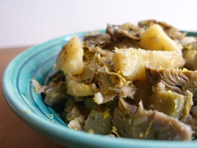 artichokes + potatoes