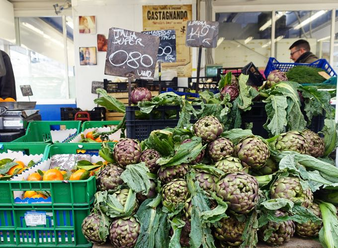 Artichokes at the market, Rome