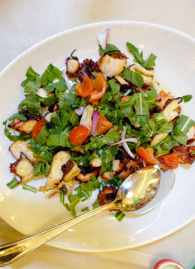 Antiche Mura, Polignano: octopus salad