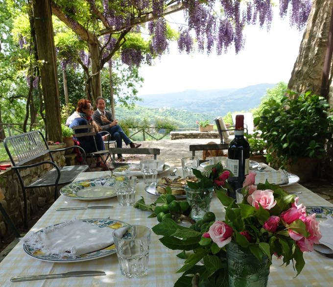 Table in Umbria with Flowers
