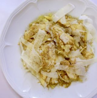 alla collina pistoiese milan {artichoke salad video}