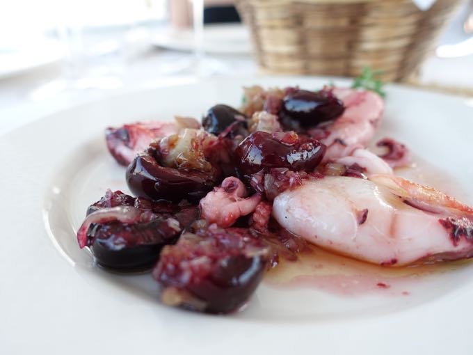 Squid and cherries
