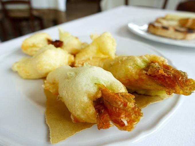 Zucchini Blossoms, Il Cadoro, Pacentro, Abruzzo