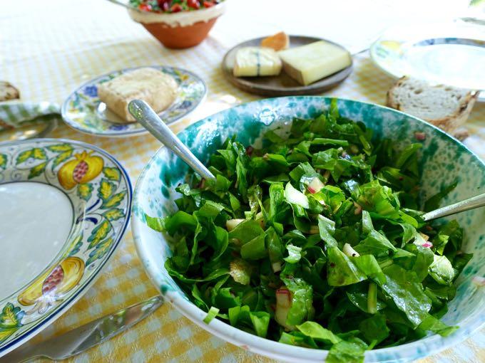 radicchio + pear {salad}