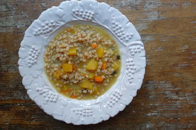 Butternut Squash and Farro Soup