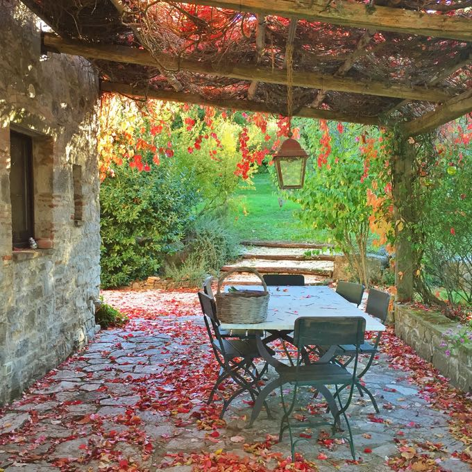Pergola in the Fall, Elizabeth Minchilli