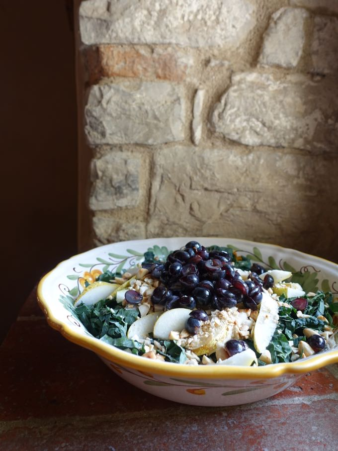 Kale, Pear and Grape Salad