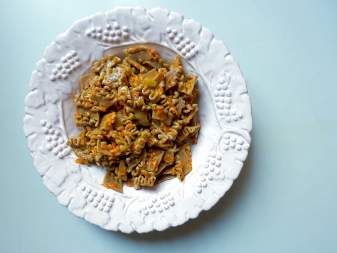 pasta {pumpkin + pancetta}