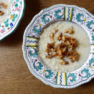 cauliflower + jerusalem artichoke {soup}