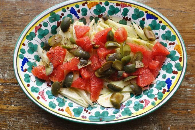 Fennel and Grapefruit Salad Elizabeth Minchilli