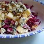 radicchio salad + blue cheese