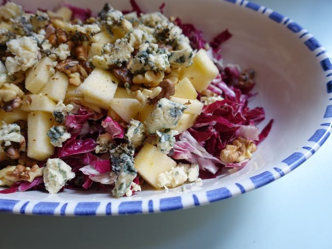 Radicchio Salad with Blue Cheese Elizabeth Minchilli