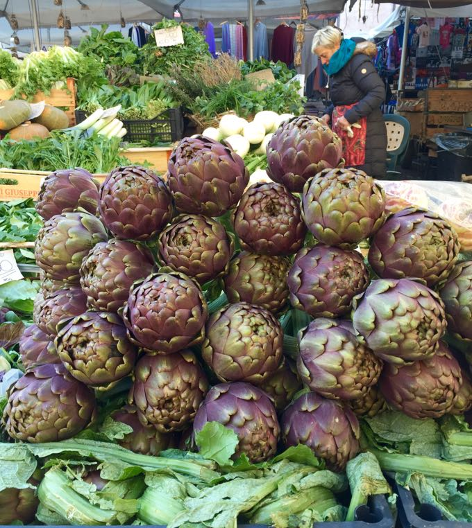 where to eat artichokes in rome