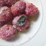 beet gnudi for your valentine