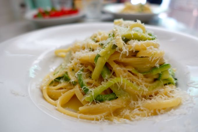 Zucchini Carbonara, Elizabeth MInchilli