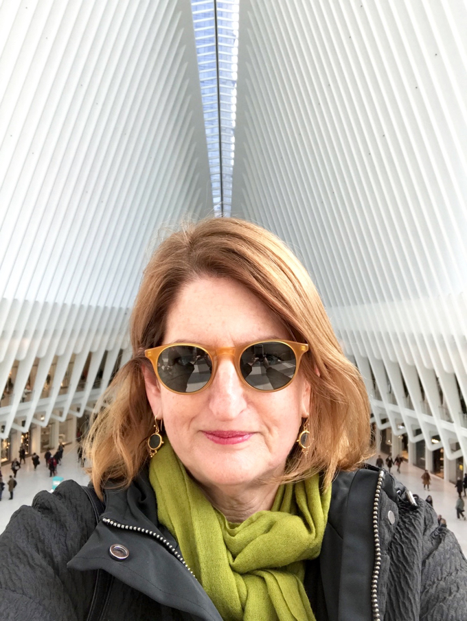 Elizabeth Minchilli Selfie at the WTC Occulus
