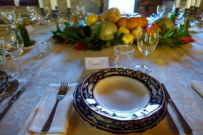dinner party: autumn in umbria