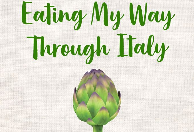 book cover: eating my way through italy