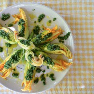 Ricotta Stuffed Zucchini Blossoms