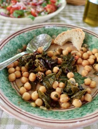 Swiss Chard and Chickpeas